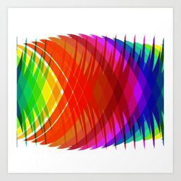 Pineapple Rainbow Art Print