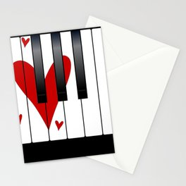 Love Piano Stationery Cards
