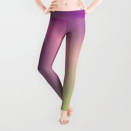 Rainbow Colorful Ombre Tie Dye Thin Stripe Velvet Gradient Leggings