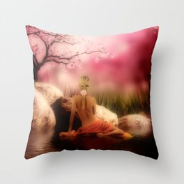Badende Throw Pillow