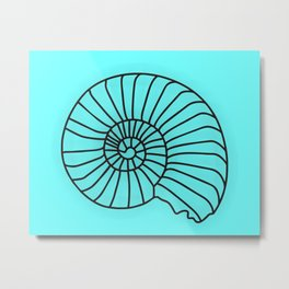 Wall Decor Bathroom Art Print Decoration Blue Sea Shell Anchor Starfish Poster Instant Download 8x10 Metal Print