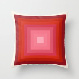 Buggin' Out - retro 70s throwback minimal art 1970s style abstract colorful Throw Pillow