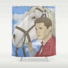 Jensen and Shadow Shower Curtain