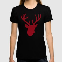 Deer Head: Red T-shirt