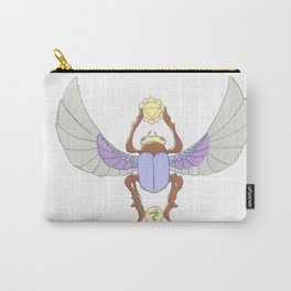 Purple Scarab Carry-All Pouch