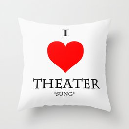 Stage Directions Throw Pillow