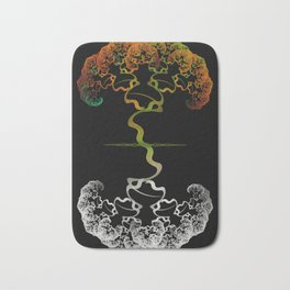 Sky Roots Wildstyle Mural of Autumn Fractal Trees Bath Mat