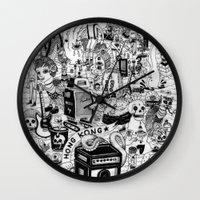 hong kong Wall Clocks featuring HONG KONG CLUB by ALVAREZ