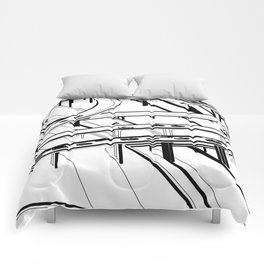 Los Angeles Black and White Comforters