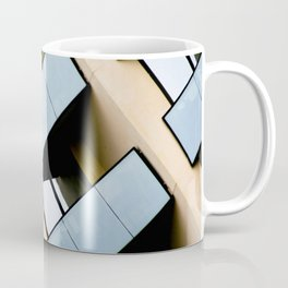 Beige and Aqua Blue Geometric Squares and Rectangles Architecture Florida Building Coffee Mug