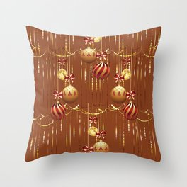 Christmas glass balls Throw Pillow
