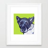 sasha grey Framed Art Prints featuring Sasha by Pawblo Picasso