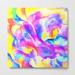 Floral Drama Abstract Metal Print