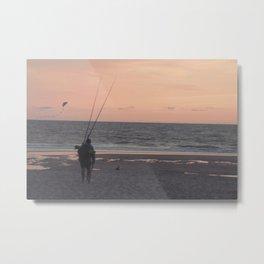 der fischer kommt von daheim  Metal Print