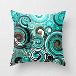 Water Whirlwind Abstract Throw Pillow
