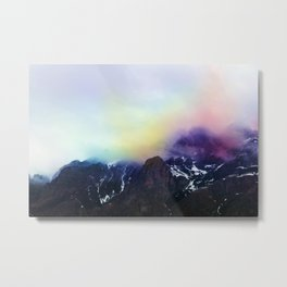 Mountain of Color Fog Metal Print