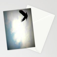 Bird in sky Stationery Cards