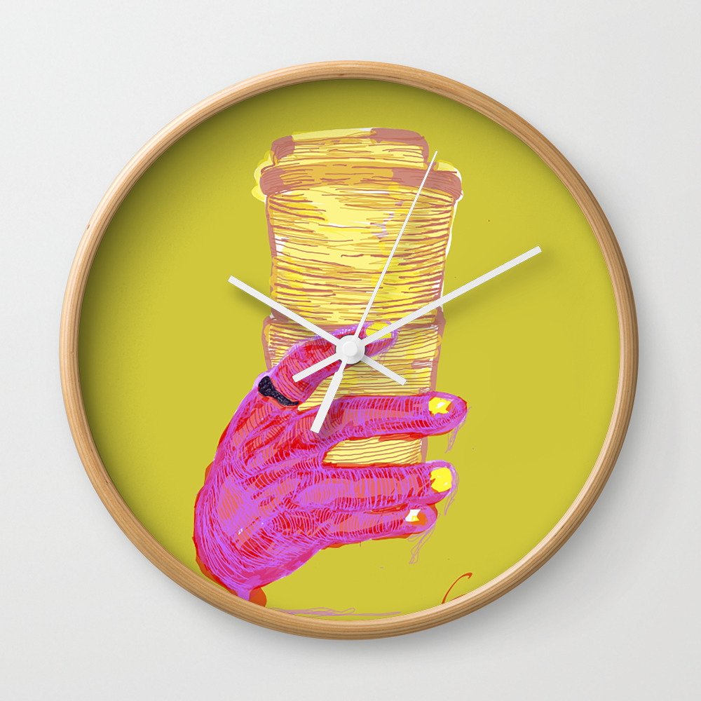 A Cup Of Joy Small Clock by Akcontributions CLK8941786