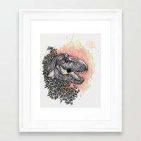dinosaur Framed Art Prints featuring Dinosaur by Gemma Goode
