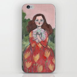 she held dreams of love and light close to her heart iPhone Skin