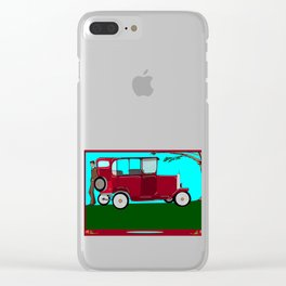 A Man and his Vintage Car Clear iPhone Case