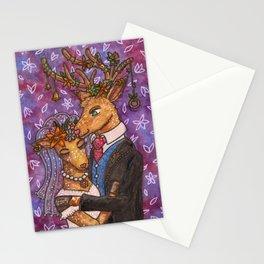 Deer Wedding Bride Groom Couple Stationery Cards