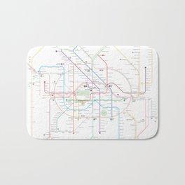 Germany Berlin Metro Bus U-bahn S-bahn map Bath Mat