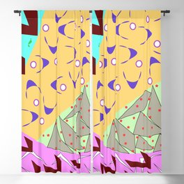 Flock of Colorful Birds Blackout Curtain