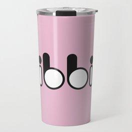 Oibbio Logo (Pink) Travel Mug