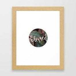 Blessed - Botanical     The Dot Collection Framed Art Print
