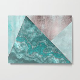 Gemstone And Geode Triangles Metal Print