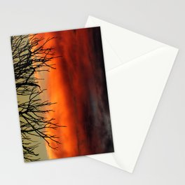Burning branches Stationery Cards