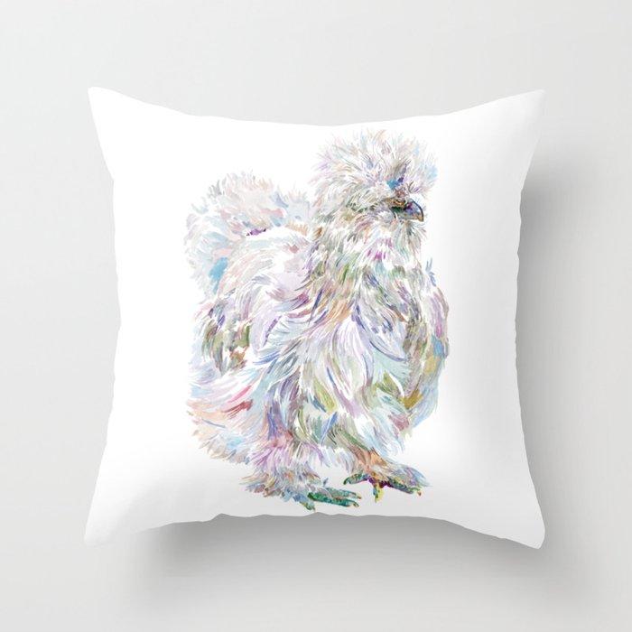 Silkie Chicken - Buchu Throw Pillow