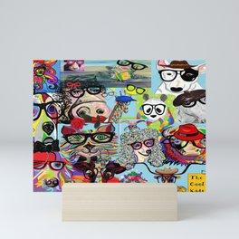 Hip Animals with Glasses . . . The Cool Kids! Mini Art Print