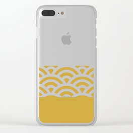Rainbow Trim Curry Yellow Mustard Clear iPhone Case