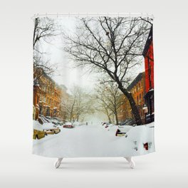 NYC @ Snow Time Shower Curtain