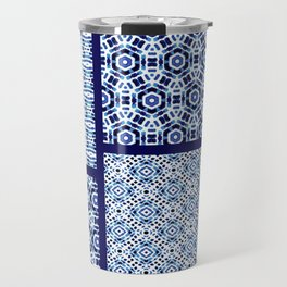 Shibori Ornament Quilt Travel Mug
