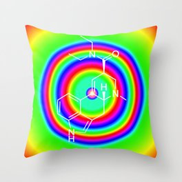 LSD rainbowdrops Throw Pillow