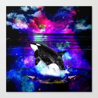 orca Canvas Prints featuring Orca by haroulita