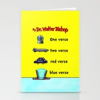 verse Stationery Cards featuring Fringe One Verse, Two Verse, Red Verse, Blue Verse by Passive Fluency
