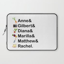 Anne of Green Gables Names Laptop Sleeve