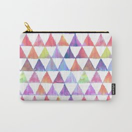 pastel triangles ikat print Carry-All Pouch
