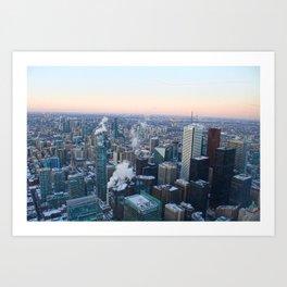 Toronto Sunset Art Print