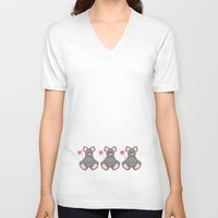 mouse V-neck T-shirts featuring Mouse by Digital-Art
