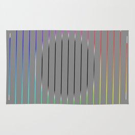 Minimalistic circle with colored lines Rug