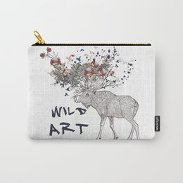 Art boho style hand drawn design with deer Carry-All Pouch