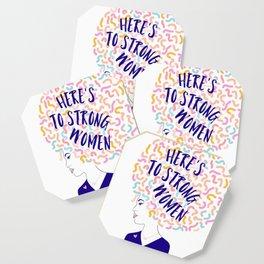 'To Strong Women' Typographic Portrait #grlpwr #illustration Coaster