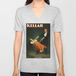 Vintage Kellar Magician - Levitation Unisex V-Neck
