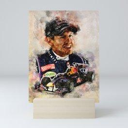 Sebastian Vettel Mini Art Print