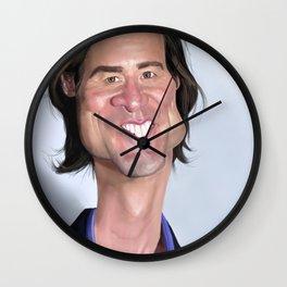 Jim Carrey Caricature art Wall Clock
